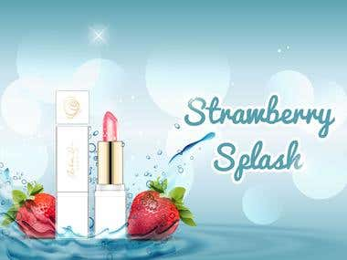 Web Banner Design - Strawberry Splash