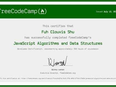 JavaScript Algorithm and Data Structure Certification