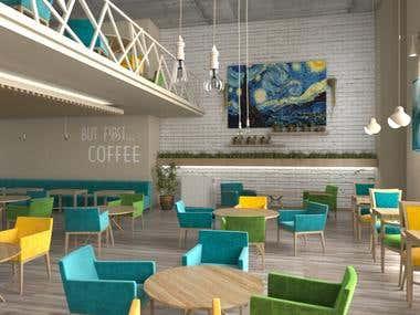 Starry Night Cafe interior Design