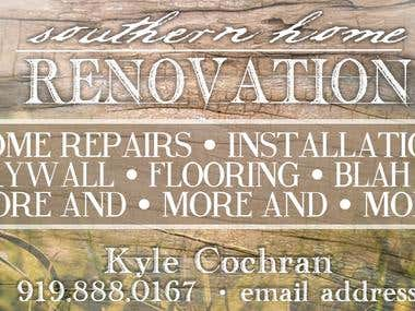 Home Renovations Business Cards