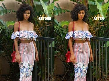 Model Image retouch