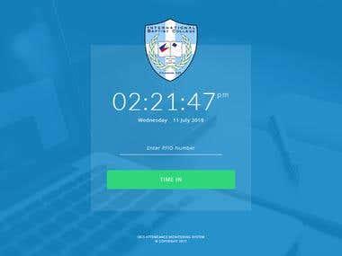IBCS Attendance Monitoring System