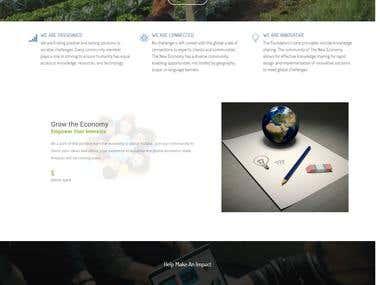 The New Economy platform Website