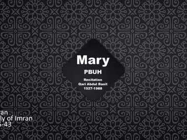 Mary mother of Jesus (PBUH) Part I