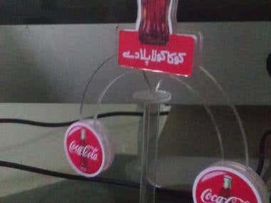 Physical Balance - designing and production - coca cola