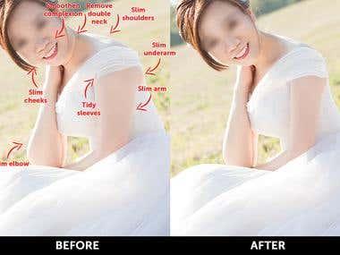 Wedding photo editing and retouching