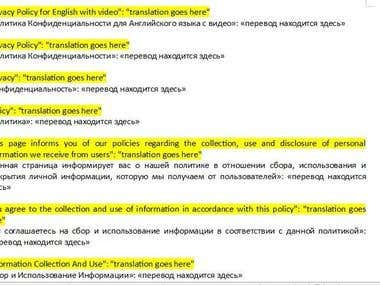 ENGLISH TO RUSSIA TRANSLATION,TRANSCRIPTION AND PROOFREADING