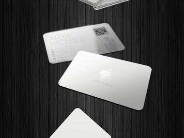 Arya Mobile Apple Design Card