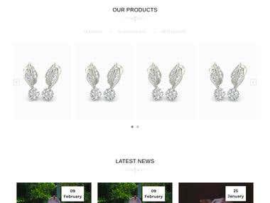 Odoo jewellery website