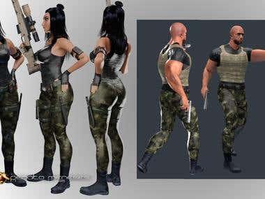 3D Character Desingn, Rig, Facial Rig, Animation
