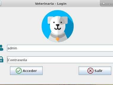 Sistema a medida administración de una veterinaria en Java