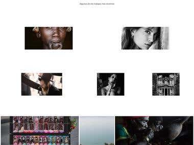 Programación de sitio para fotógrafo raulbarrero.com