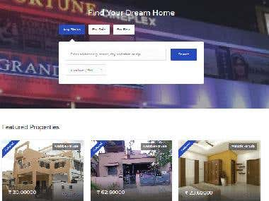 Real Estate Website to sell/buy/rent properties online