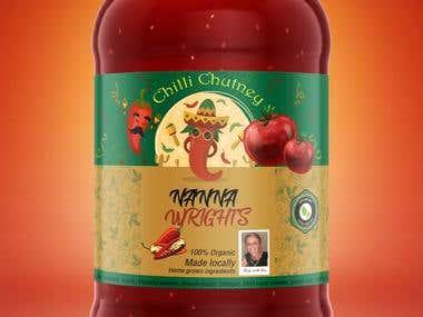 jar label design