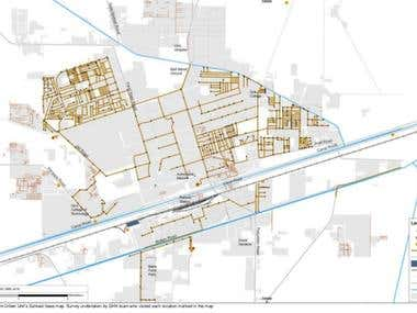 Urban services GIS mapping for 11 cities