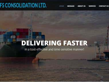 Website Design for Freight Forwarding Company