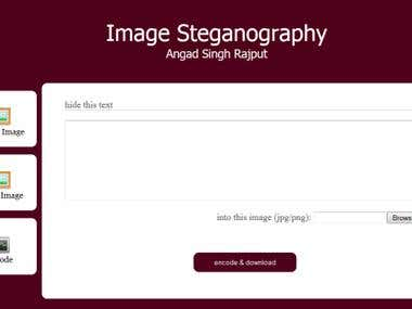 Online Image Steganography in PHP