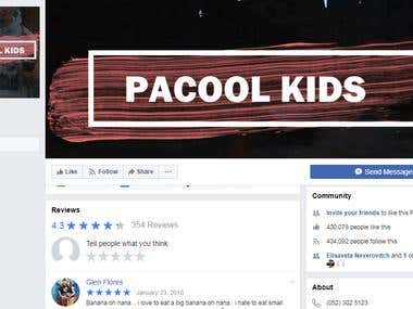 Pacool Kids - Social Media Manager