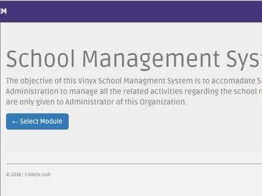 Vinyx School Management System