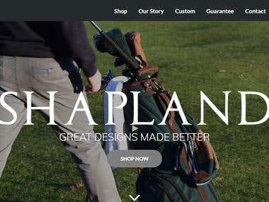 Shapland online store