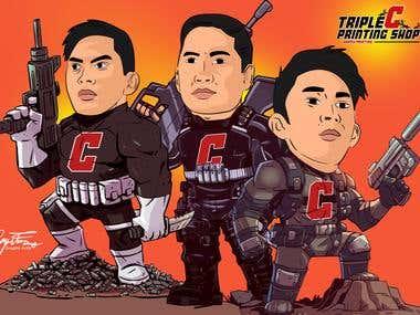 Turn to cartoon