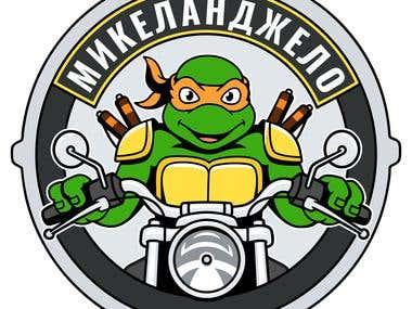 A logo for biker