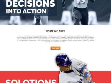 "Website design for ""Athletes Consulting"""