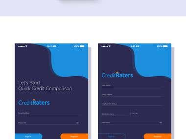 UI & UX for Credit Raters APP