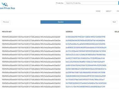 Ethereum PrivateKeys Database