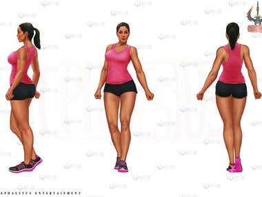 female character model sheet