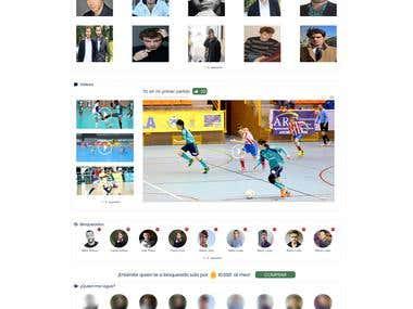 Social Media Web App for Football players