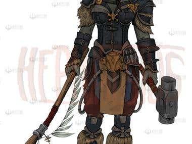 blacksmith concept gaming characters