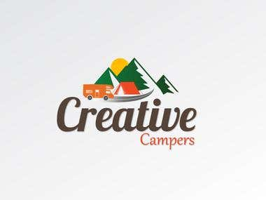 Creative Campers Logo Design