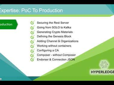 Expertise: PoC To Production