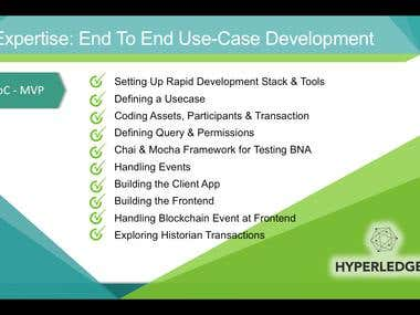 Expertise: End To End Use-Case Development