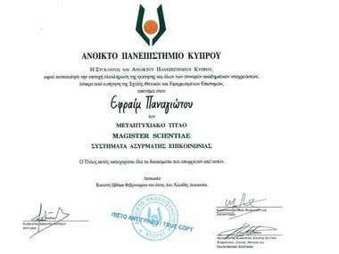 License Master Degree