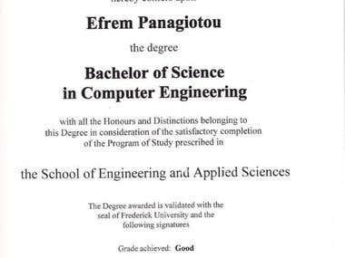 License Bachelor Degree