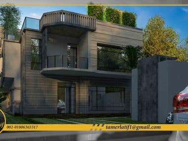Modern Villa & Roof Landscape