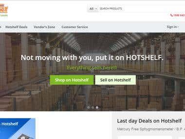 HOTSHELF (CS-CART based multi-vendor website)