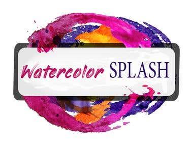 Watercolor splash banner graphic