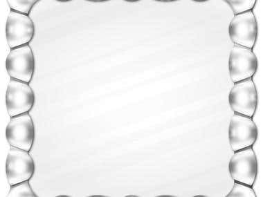 Silver metallic frame graphic