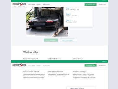 RevolveAutoTransport Site with Laravel