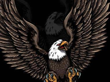 eagle sticker illustration