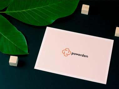 Powerden Logo Design