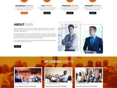 Profile and web page for Gain