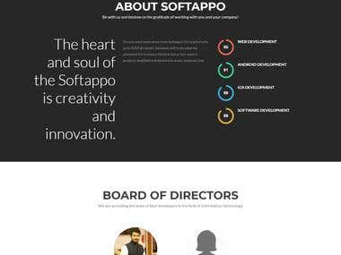 WordPress Website Design for Softappo
