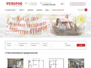 creation of a webshop for real estate