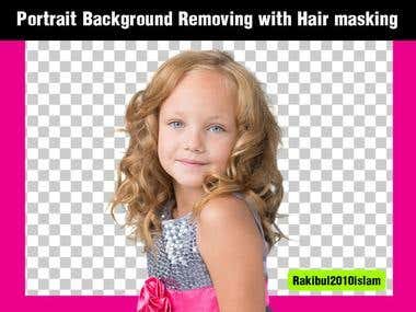 Portrait Background Removing with Hair masking