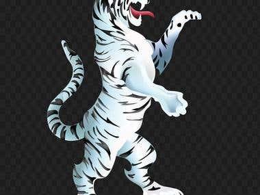 Tiger Gradient mesh