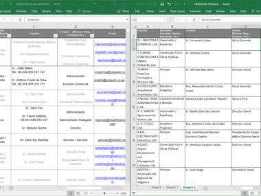 Clean up MS Excel File